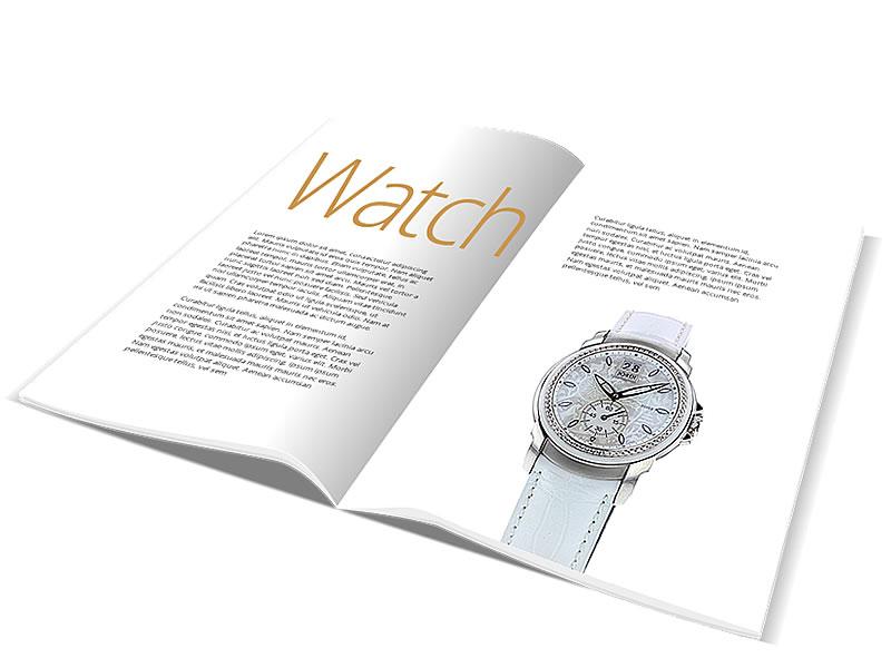 Packshot watch catalog