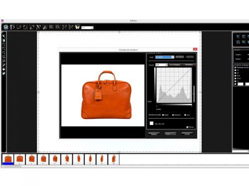 Editing images software packshot