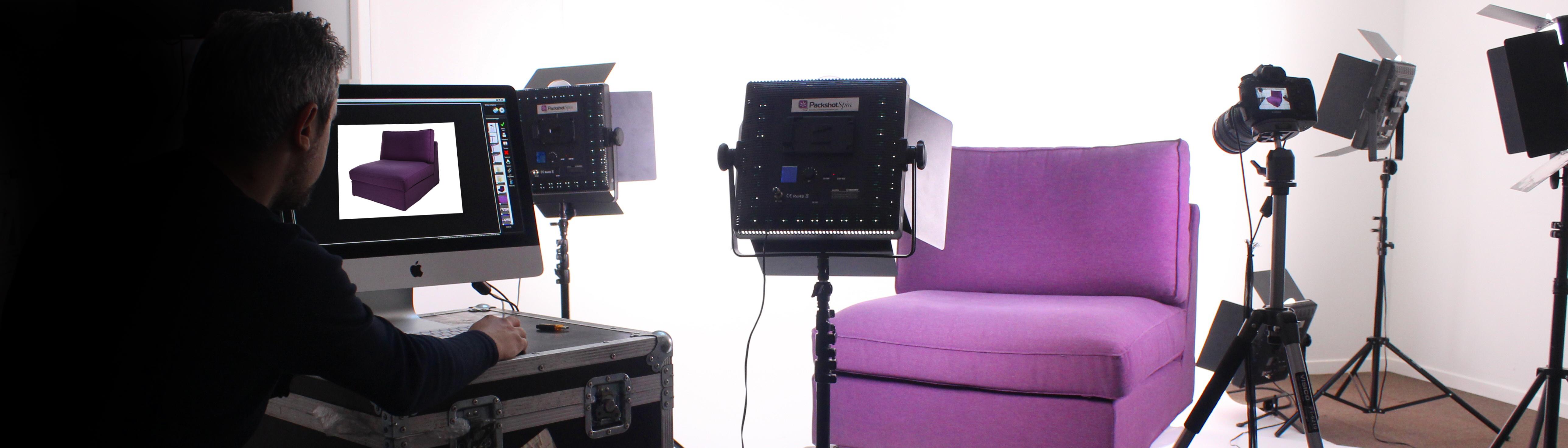 Fotografeer meubels en decoratie met packshot creator