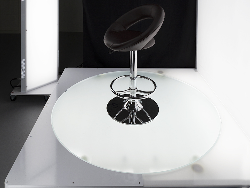 backlit turntable for big and heavy products photography