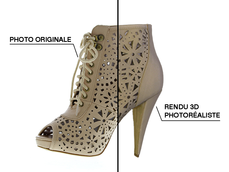 3D objects modeling shoes