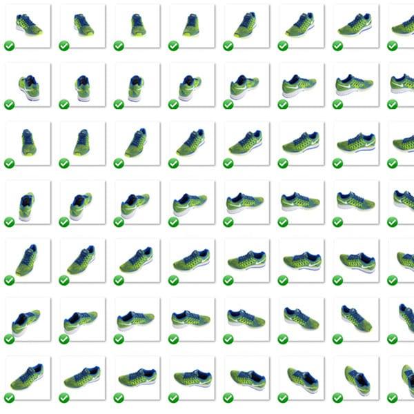 multi-view afbeelding van schoenen