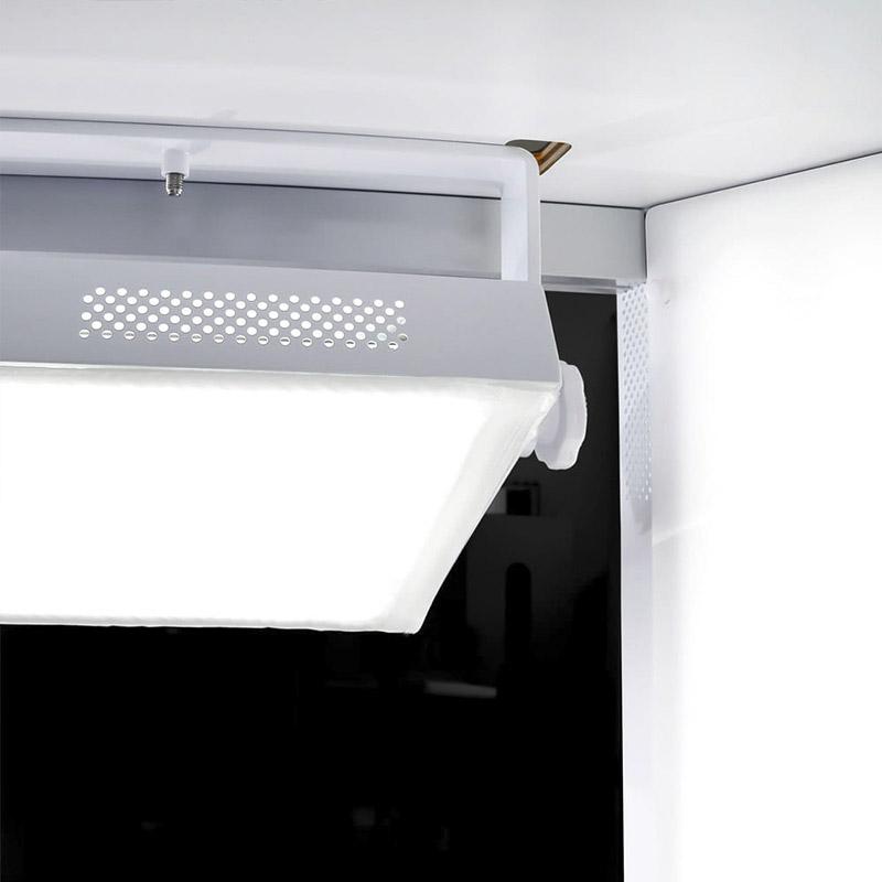 LED-verlichting in een geautomatiseerde fotostudio
