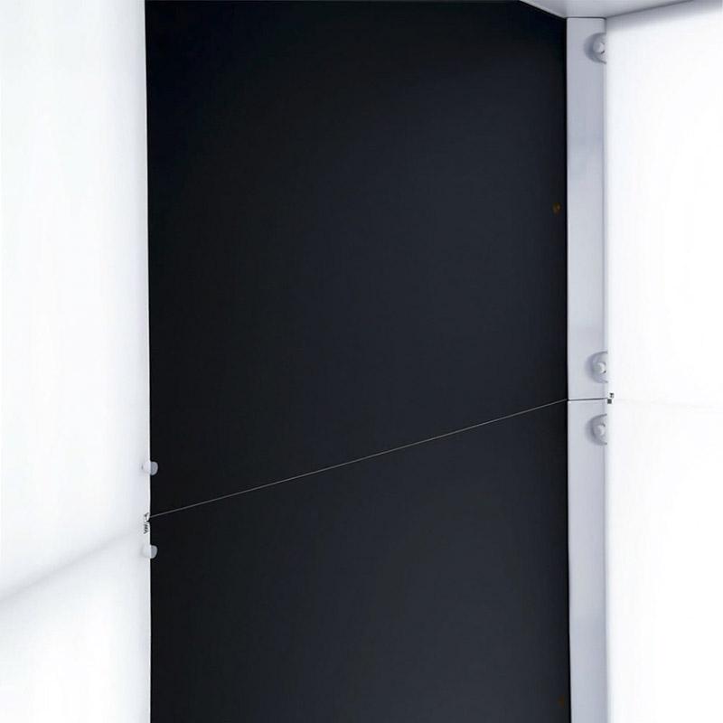 de zijkanten in een geautomatiseerde fotostudio
