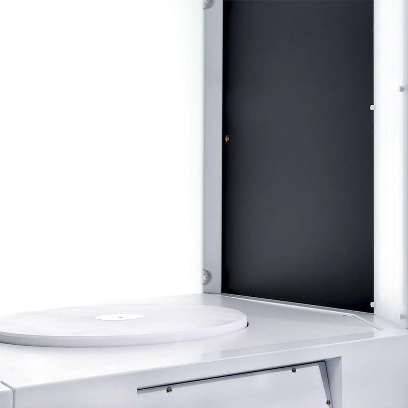 de draaitafel die kan worden toegevoegd in een geautomatiseerde fotostudio