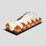fotograferen van voedingsmiddelen in een fotostudio voorbeeld foto taart garneren