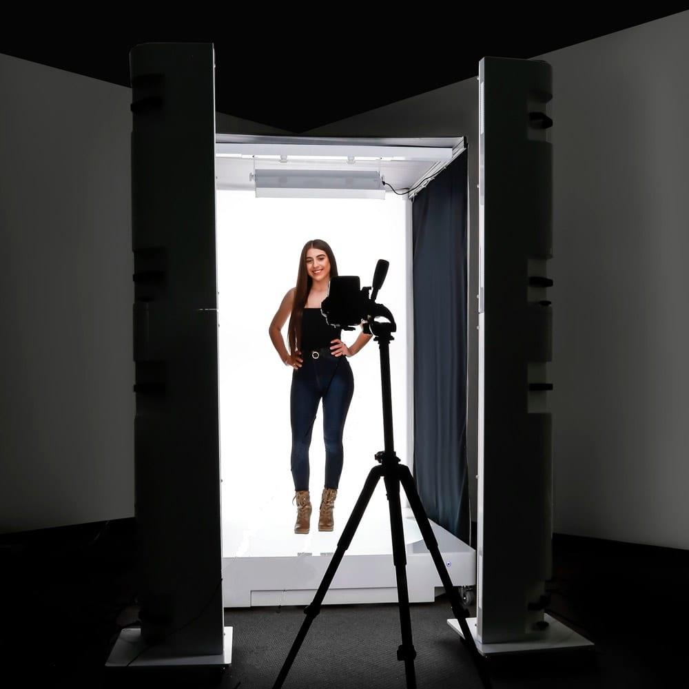 vrouw in een studiofoto