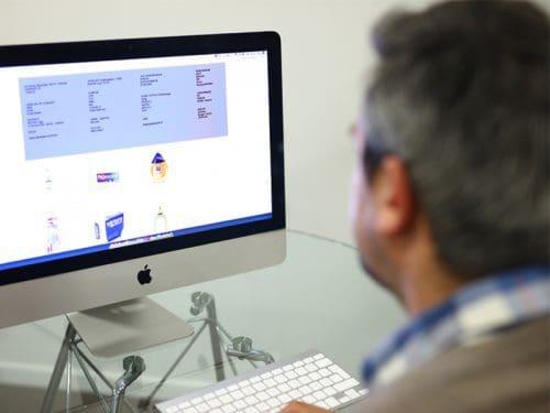 e-commerce drogisterij producten foto's