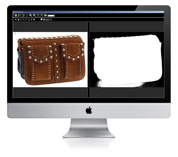 zelfstudie over het bewerken van een foto van lederwaren op een software
