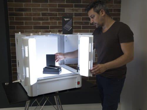 studio's ontworpen om op verpakkingen te schieten