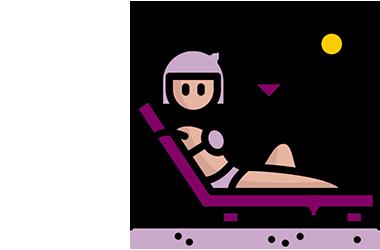 strand icoon van een vrouw in bikini