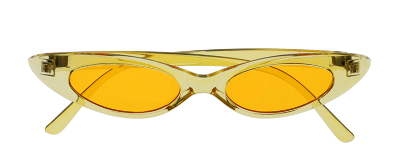 yellow sunglasses on a transparent background