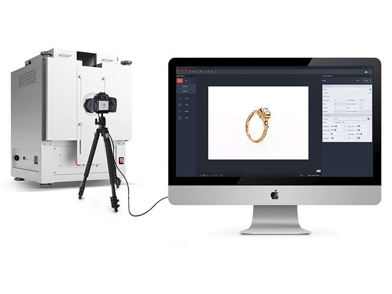 software controls photo studio for ring photography