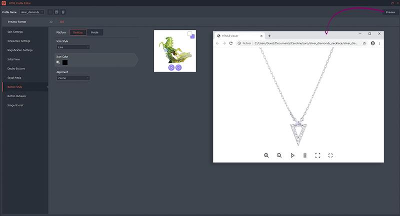 Start en personaliseer jouw 360 ° -animatie