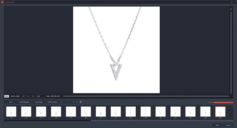 Sla de geanimeerde visual van je halsketting op en bewaar deze