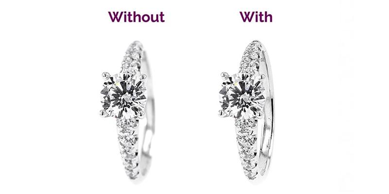 voor en na het automatisch samenstellen van je ringfoto
