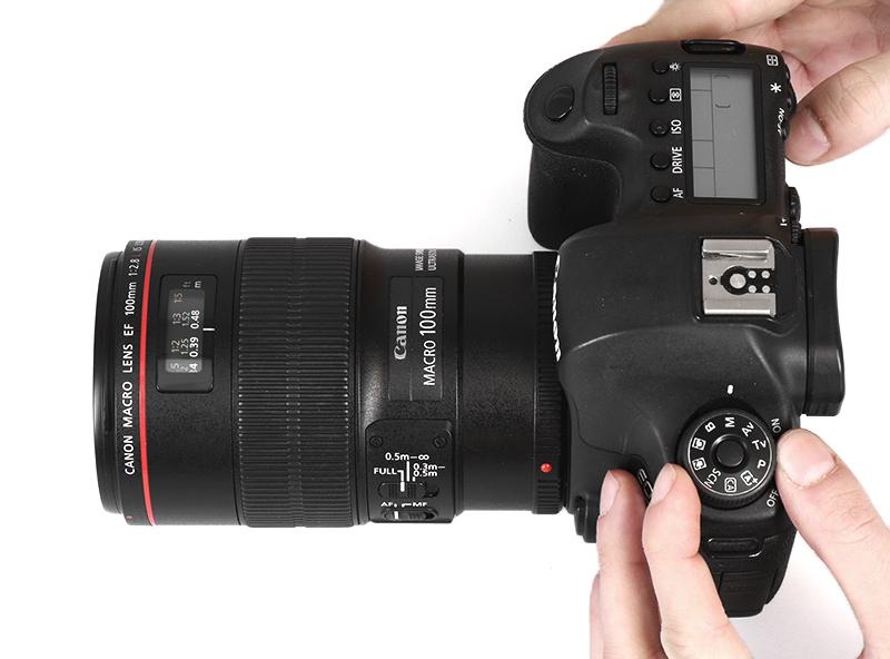 appareil photo en mode manuel à utiliser dans les studios photo PackshotCreator