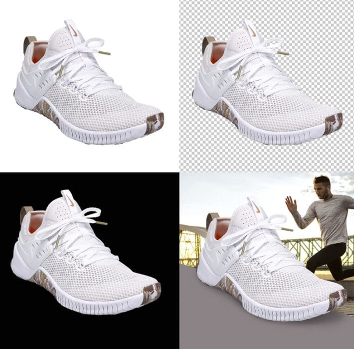 verwijder automatisch de achtergrond van je schoenenfoto's met de AutoMask-functie bij schoenen fotograferen